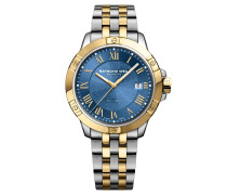 Tango Herrenuhr, Stahl-Gold, Blau, Quarz, RW 8160