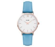 """Damenuhr """"Minuit"""" CL30046, hellblau / weiß"""