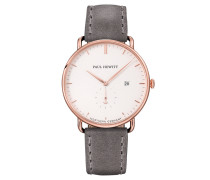The Grand Atlantic Line White Sand IP Roségold Lederarmband Grau
