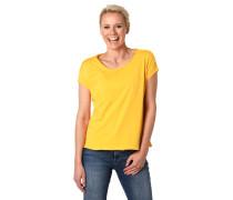 T-Shirt, Baumwolle, Brusttasche, offene Abschlüsse, Rollsaum