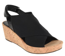 Sandalette, Keilabsatz, Kork-Optik