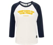 Shirt, 3/4-Arm, Rundhalsausschnitt, Front-Print, Baumwolle