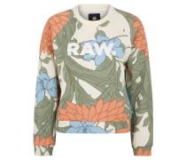 Sweatshirt, floraler Allover-Print, Logo
