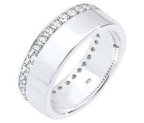 Ring Funkelnd Swarovski® Kristalle 925 Sterling Silber