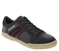Sneaker, Veloursleder, Ziernähte, Print