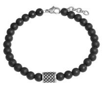 Herren-Armband mit Onyx-Steinen