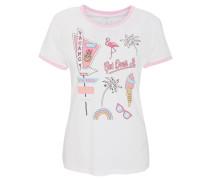 T-Shirt, Front-Print, Kontrast-Details, Baumwolle