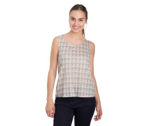 Tank-Top, Ornament-Muster, Zier-Knopfleiste
