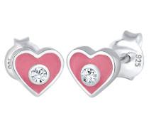 Ohrringe Kind Herz Swarovski® Kristalle 925 Sterling