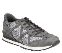 Sneaker, Glitzer-Details, Kunstleder, Riemchen-Optik
