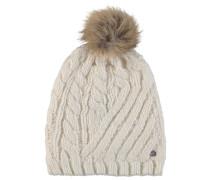Mütze, Strick, Bommel, Emblem