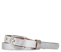 Gürtel, Leder, Metallic-Effekt, Dornschließe