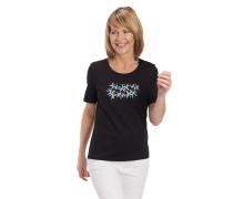 T-Shirt, Baumwolle, Stickerei, Strass