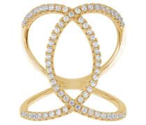 Fucino Ring Sterling Silber 925 SJ-R0059-CZ(YG)/54