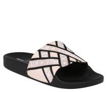 "Slides ""Shaye"", Synthetik, Print, ergonomisches Fußbett"