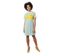 T-Shirt-Kleid, Streifen, Logo-Patch, Bio-Baumwolle