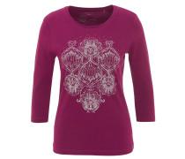 Shirt, 3/4-Armlänge, Ornament-Print, Strass, reine Bio-Baumwolle