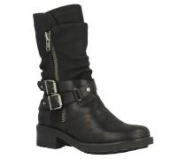 Stiefel mit Reissverschluss, Leder, wadenhoch, trendy