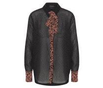 Bluse, Sternen-Print, Schluppe, Leopard-Muster