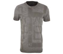 T-Shirt, Baumwolle, Rundhalsausschnitt, meliert