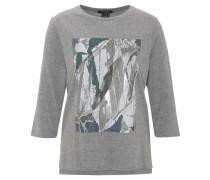 Shirt, 3/4-Arm, Metallic-Print, Rundhals