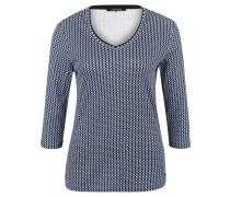 "Shirt ""Edda"", 3/4-Arm, Shaped Fit, Allover-Print, Rollsaum"