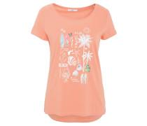 T-Shirt, reine Baumwolle, Rundhalsausschnitt, Front-Print