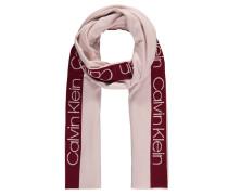 Schal, zweifarbig, Marken-Print
