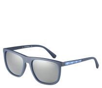 """Sonnenbrille """"EA4124 57236G"""", eckiges Design, Logo-Applikation"""