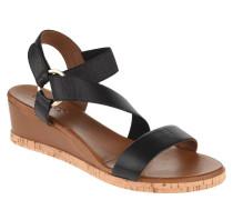 Sandaletten, Keilabsatz, Lederriemen, Kork-Detail