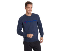 Sweatshirt, Marken-Print, reine Baumwolle