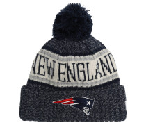 New England Patriots Strickmütze, Fleece innen, Bommel