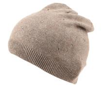 Mütze, Strick, Strass, meliert