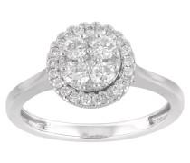 Ring 585 Weiß, mit 30 Diamanten