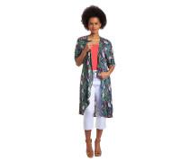 Blusenshirt, Jacken-Format, floral, kurzarm