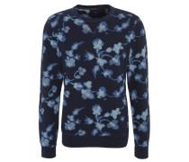 Sweatshirt, Baumwolle, Rundhalsausschnitt, florales Muster