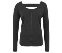 Langarmshirt, Cut-Out, Bordüre, Rücken-Ausschnitt