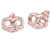 Ohrringe Brezel Wiesn Swarovski® Kristalle 925 Silber