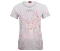 "T-Shirt ""Silberalm"", Ausbrenner-Design, Print"