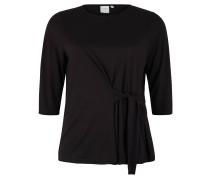 "Shirt ""Luan"", 3/4-Arm, unifarben, Knoten-Detail, Große Größen"