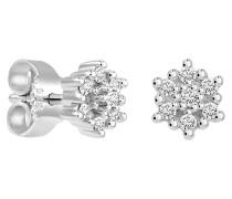 Ohrstecker, mit Diamanten, Weißgold 375