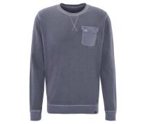 Pullover, aufgesetzte Brusttasche, Ziernähte