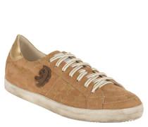 Sneaker, Veloursleder, Glitzer-Sterne, Used-Look