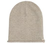 Mütze, Strick, Baumwoll-Leinen-Mix, Rollsaum