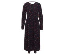 Maxi-Kleid, Allover-Muster, Rüschen-Details, Rückenausschnitt