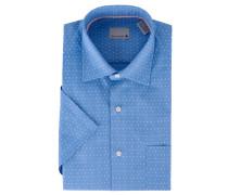 Businesshemd, Kurzarm, gepunktet, Brusttasche, Kent-Kragen