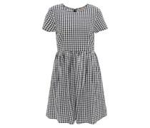 Minikleid, Karo-Muster, ausgestellt, tailliert