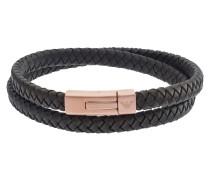 Armband, Leder, , Edelstahl, rosegold, EGS2175221