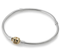Armband, Silber, mit Gold-Schließe, 590702HG