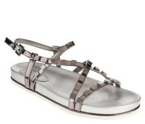 Sandalen, Metallic-Look, Nieten, Riemchen